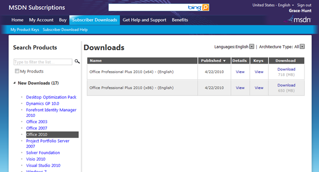SharePoint 2010 and Office 2010 RTM Versions Available for