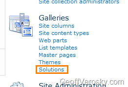 sharepoint 2010 site templates list