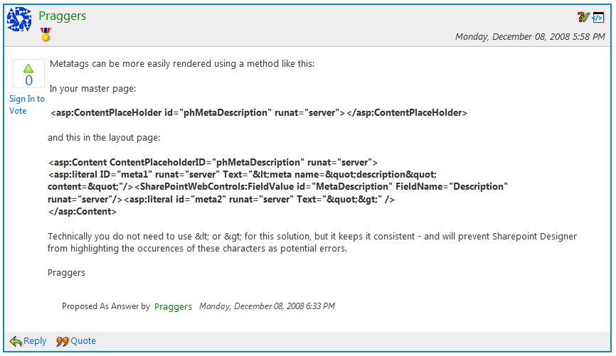 Description Meta Tag in SharePoint Publishing Pages   Geoff ...