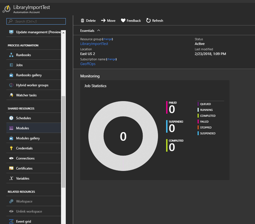 Importing PowerShell Modules into Azure Automation | Geoff